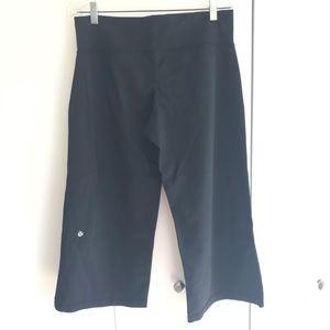 Lululemon Black Wide Leg Capris (S)